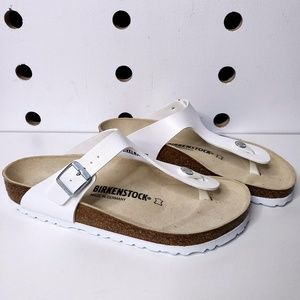 New Birkenstock Gizeh White Sandals